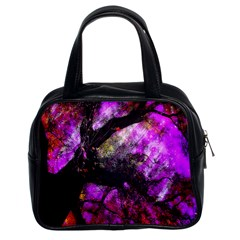 Pink Abstract Tree Classic Handbags (2 Sides)
