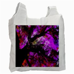 Pink Abstract Tree Recycle Bag (one Side)