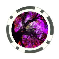 Pink Abstract Tree Poker Chip Card Guard (10 Pack)