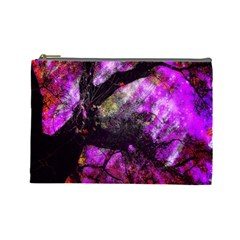 Pink Abstract Tree Cosmetic Bag (Large)