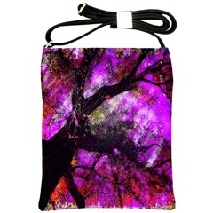 Pink Abstract Tree Shoulder Sling Bags