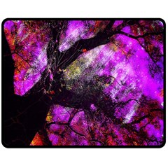 Pink Abstract Tree Fleece Blanket (medium)