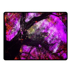 Pink Abstract Tree Fleece Blanket (small)