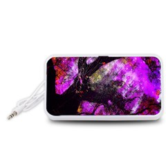 Pink Abstract Tree Portable Speaker (White)