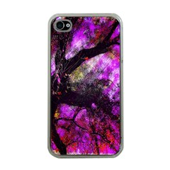 Pink Abstract Tree Apple iPhone 4 Case (Clear)