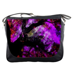 Pink Abstract Tree Messenger Bags