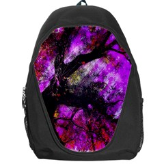 Pink Abstract Tree Backpack Bag