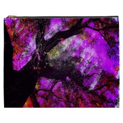 Pink Abstract Tree Cosmetic Bag (XXXL)