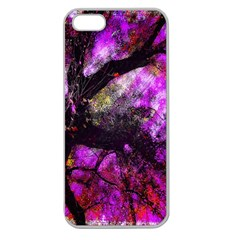 Pink Abstract Tree Apple Seamless iPhone 5 Case (Clear)