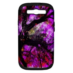 Pink Abstract Tree Samsung Galaxy S III Hardshell Case (PC+Silicone)