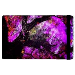 Pink Abstract Tree Apple iPad 2 Flip Case