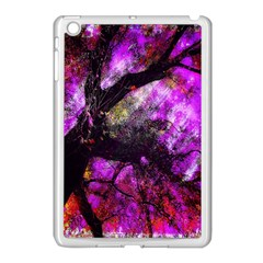 Pink Abstract Tree Apple iPad Mini Case (White)