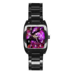 Pink Abstract Tree Stainless Steel Barrel Watch