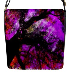 Pink Abstract Tree Flap Messenger Bag (s)