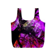 Pink Abstract Tree Full Print Recycle Bags (s)