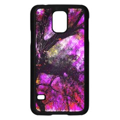 Pink Abstract Tree Samsung Galaxy S5 Case (black)