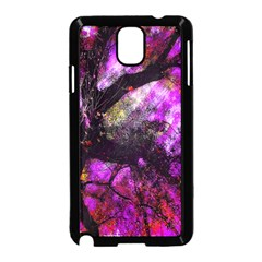 Pink Abstract Tree Samsung Galaxy Note 3 Neo Hardshell Case (Black)