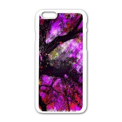 Pink Abstract Tree Apple Iphone 6/6s White Enamel Case