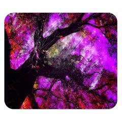 Pink Abstract Tree Double Sided Flano Blanket (small)