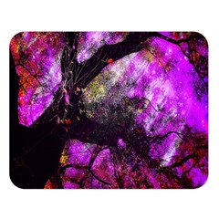 Pink Abstract Tree Double Sided Flano Blanket (large)