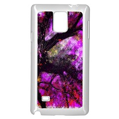Pink Abstract Tree Samsung Galaxy Note 4 Case (White)