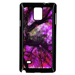 Pink Abstract Tree Samsung Galaxy Note 4 Case (black)