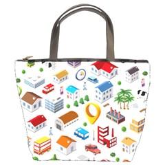 Urban Pattern  Bucket Bags