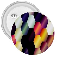 Colorful Hexagon Pattern 3  Buttons