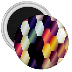 Colorful Hexagon Pattern 3  Magnets