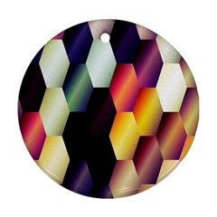 Colorful Hexagon Pattern Ornament (Round)