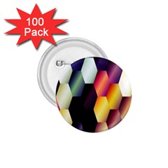 Colorful Hexagon Pattern 1.75  Buttons (100 pack)