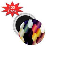 Colorful Hexagon Pattern 1 75  Magnets (100 Pack)