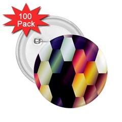 Colorful Hexagon Pattern 2 25  Buttons (100 Pack)