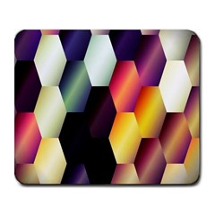 Colorful Hexagon Pattern Large Mousepads