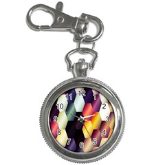Colorful Hexagon Pattern Key Chain Watches