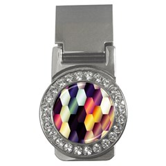 Colorful Hexagon Pattern Money Clips (cz)