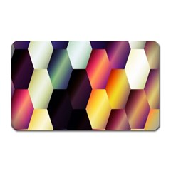 Colorful Hexagon Pattern Magnet (rectangular)