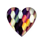 Colorful Hexagon Pattern Heart Magnet Front