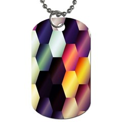 Colorful Hexagon Pattern Dog Tag (two Sides)