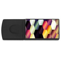 Colorful Hexagon Pattern USB Flash Drive Rectangular (2 GB)