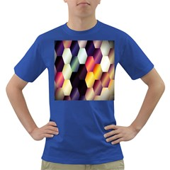 Colorful Hexagon Pattern Dark T Shirt
