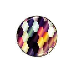 Colorful Hexagon Pattern Hat Clip Ball Marker