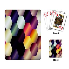 Colorful Hexagon Pattern Playing Card