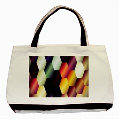 Colorful Hexagon Pattern Basic Tote Bag