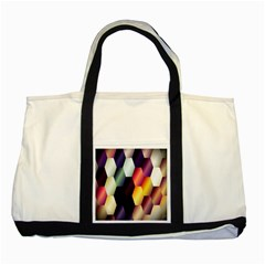 Colorful Hexagon Pattern Two Tone Tote Bag