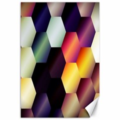 Colorful Hexagon Pattern Canvas 12  x 18