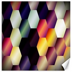 Colorful Hexagon Pattern Canvas 16  x 16