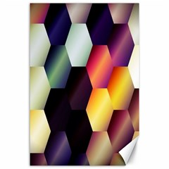 Colorful Hexagon Pattern Canvas 24  x 36