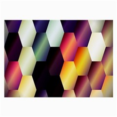 Colorful Hexagon Pattern Large Glasses Cloth