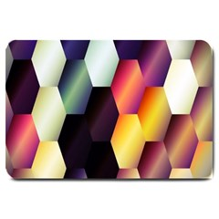 Colorful Hexagon Pattern Large Doormat